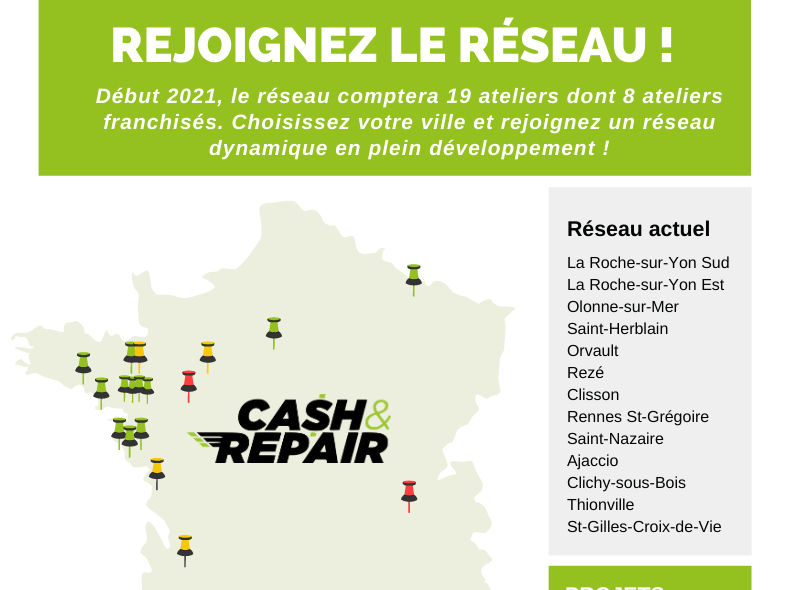 infographie franchise cash and repair réparation mobile